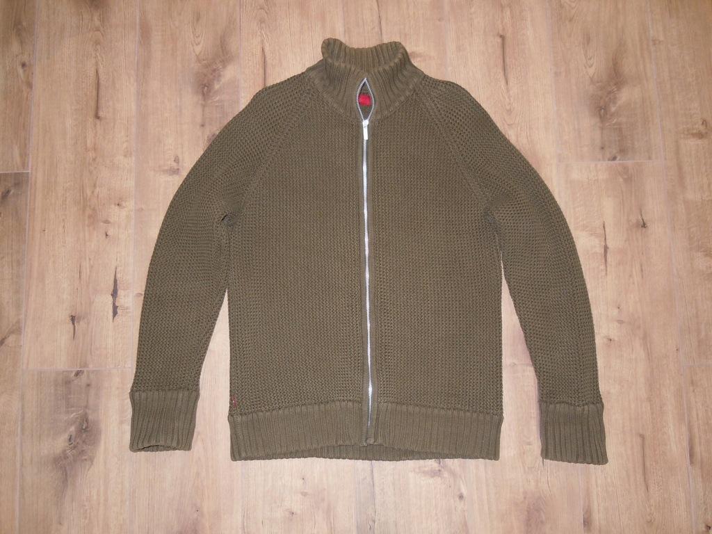 LEVIS gruby rozpinany sweter r .L khaki