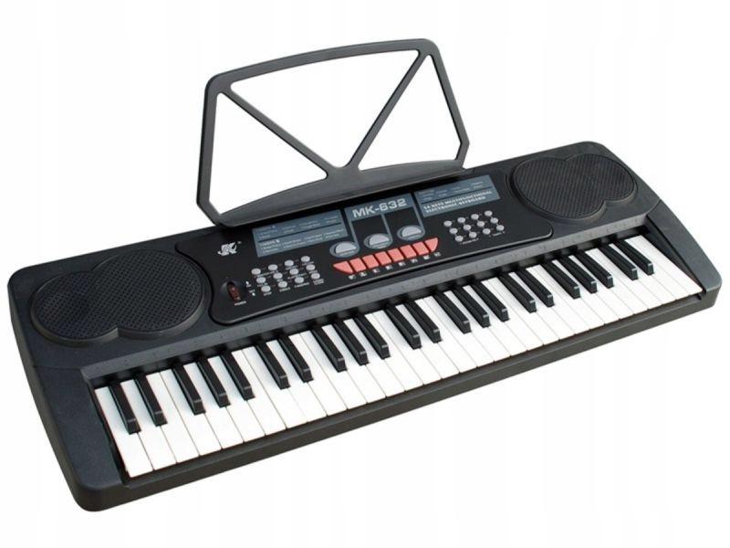 Keyboard Organy 54 Klawisze Zasilacz Mikrofon MK-6