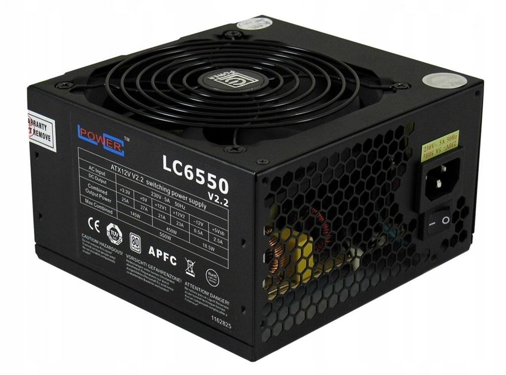 ZASILACZ 550W LC6550 V2.3 80+ Bronze 120 mm 4 x SA