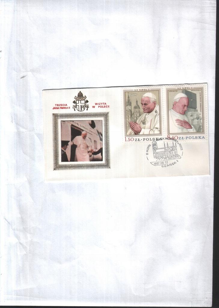 Filatelistyka. III wizyta JPawła II - Gdańsk 1987