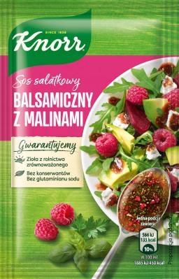KNORR SOS SAŁATKOWY BALSAMICZNY Z MALINAMI 7,5 GR