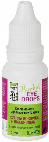 Krople do oczu EYE SEE Herbal z czarną borówką