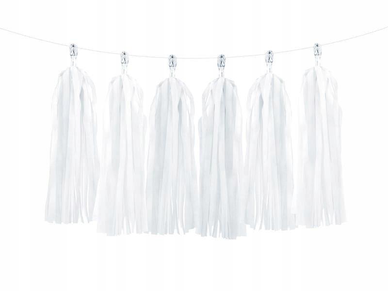 Girlanda frędzle biały 50 szt.