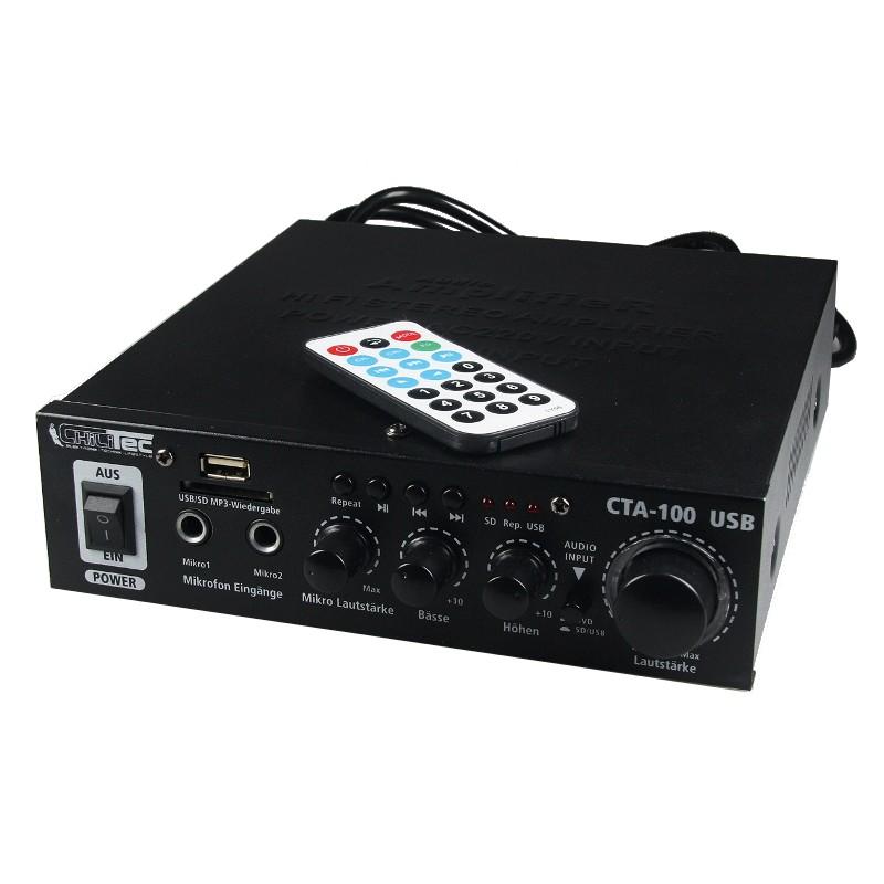 WZMACNIACZ KARAOKE 2 X 50W USB SD PILOT [F715