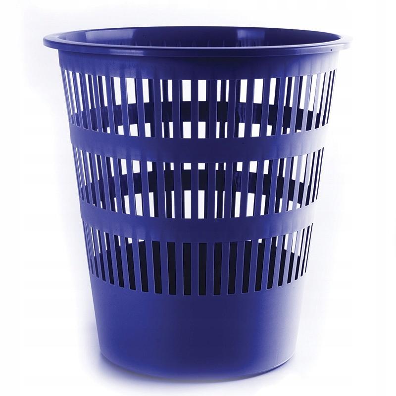 Kosz na śmieci DONAU, ażurowy, 12l, niebieski