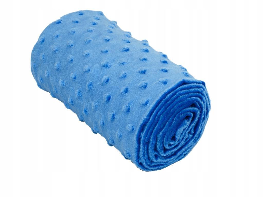 Minky Kropki, Ciemny niebieski kawałek 40 cm