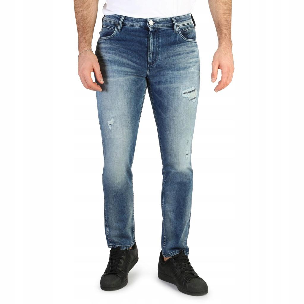 Spodnie - Calvin Klein - J30J304914 - Niebieski 33