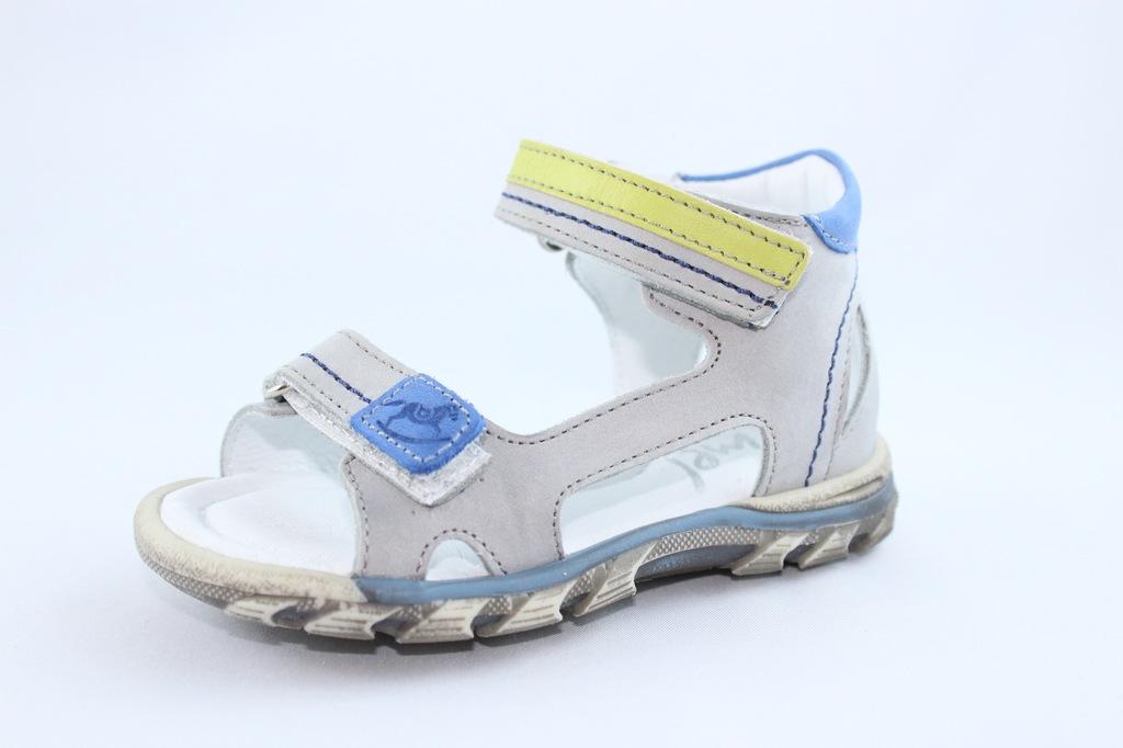 EMEL E2639-2 sandałki,sandały skóra szary r 22