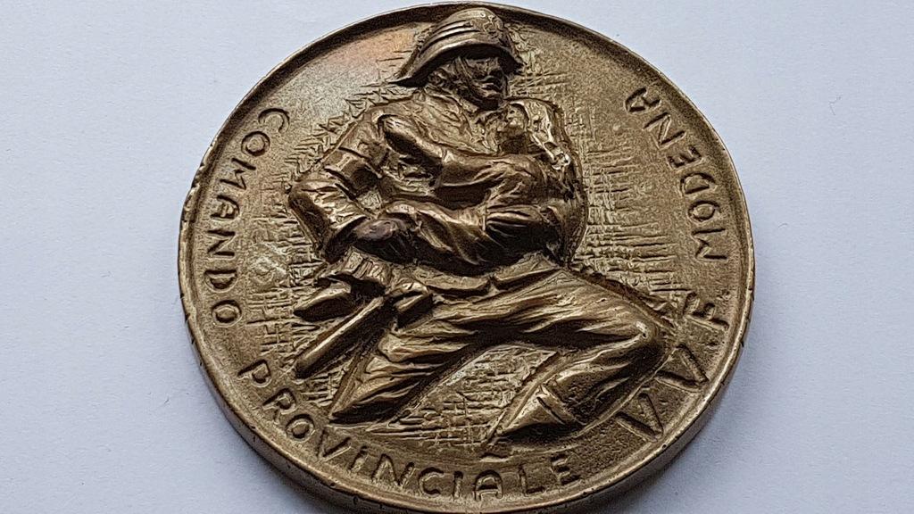 Piękny Medal Strażacki Włochy