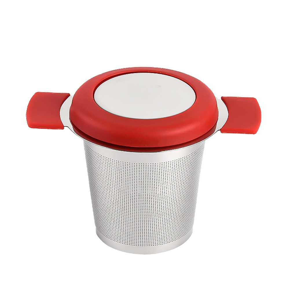 Filtr do herbaty ze stali nierdzewnej z pokrywką