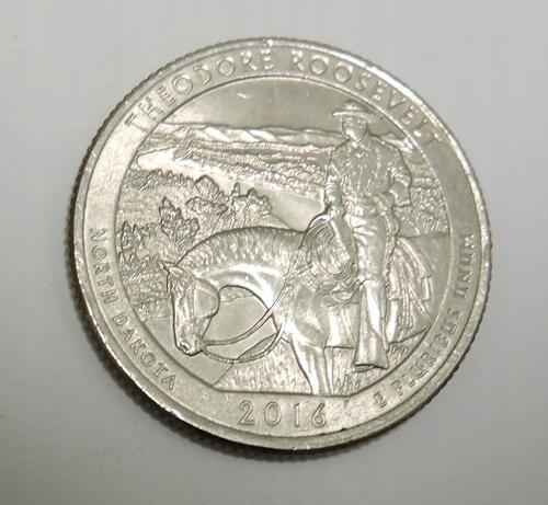USA 25 cents 2016P Theodore Roosevelt - N. Dakota