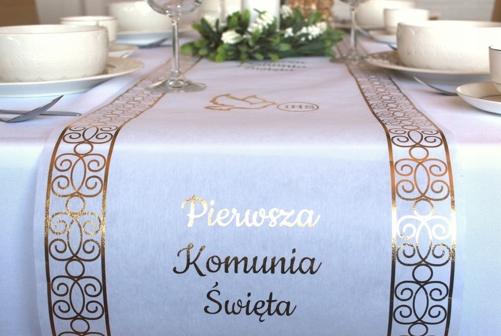 Bieznik Komunijny Komunia Zloty Na Stol 35x500 5m 7982700937 Oficjalne Archiwum Allegro