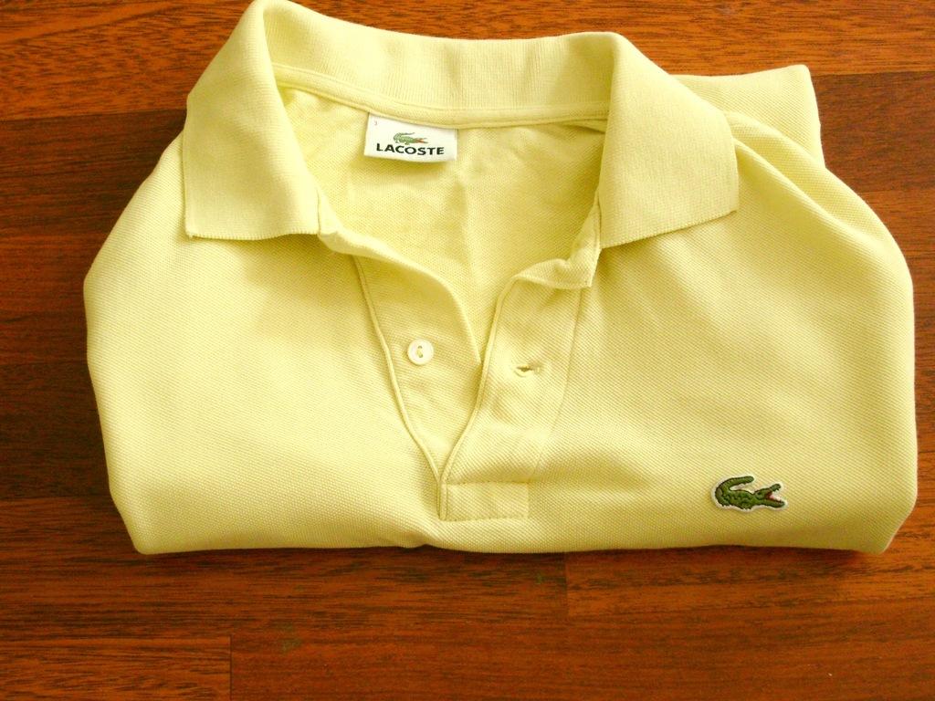 Żółta koszulka polo z długim rękawem Lacoste