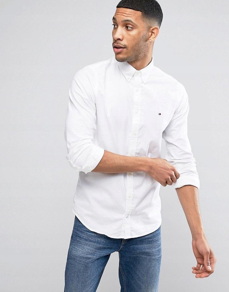 W1 Tommy Hilfiger Biała koszula męska elastyczna S