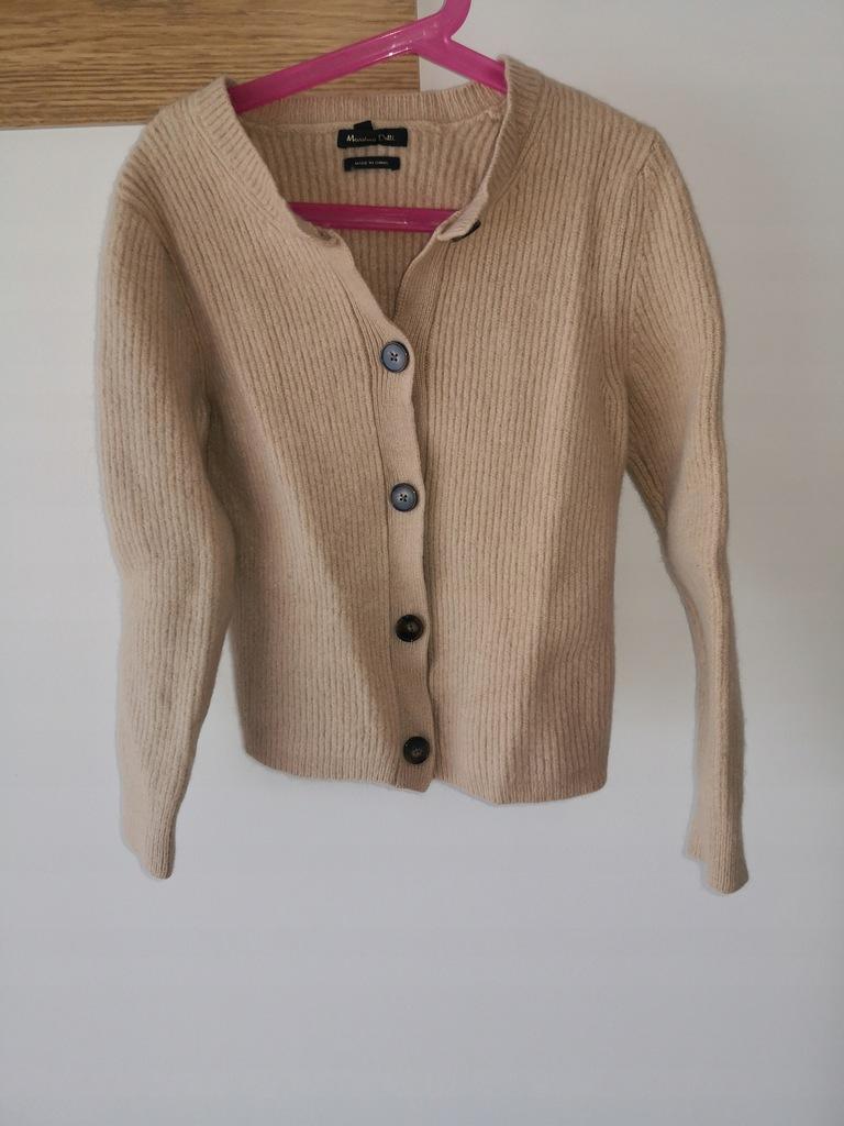Massimo dutti super ciepły zimowy sweterek 140