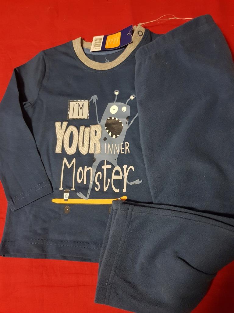Lupilu piżama chłopięca 86/92 ciepłe spodnie nowa