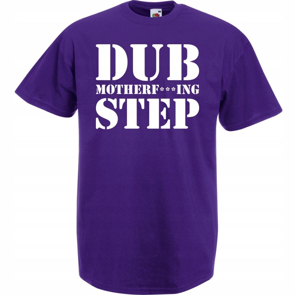 Koszulka z nadrukiem dubstep dub M fioletowa