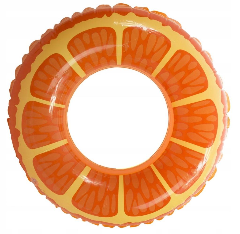 Koło dmuchane pomarańcza 90cm