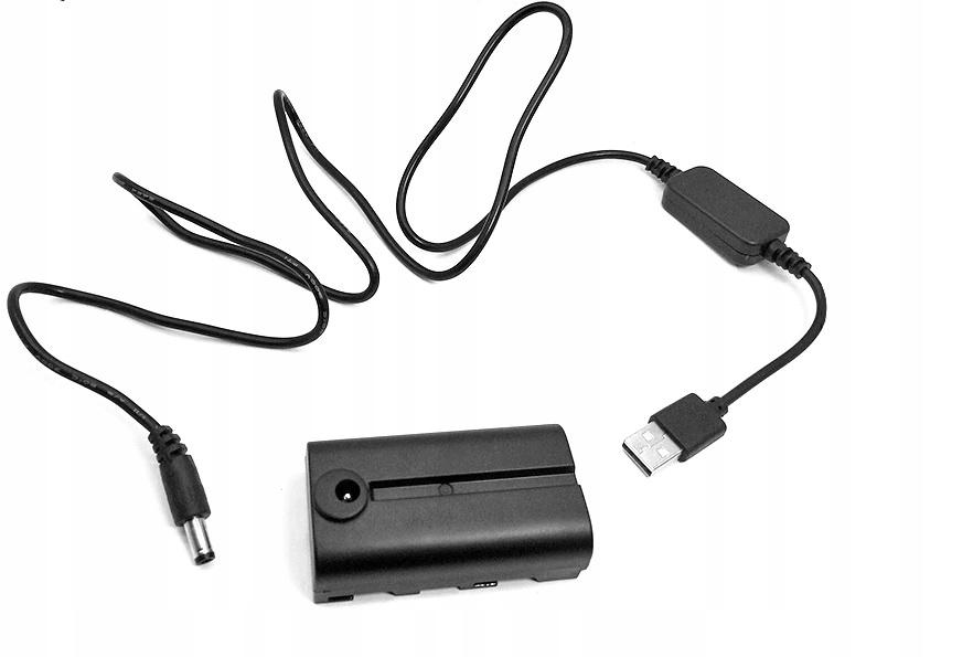 Dummy Battery Pack do kamer Sony (NP-F)