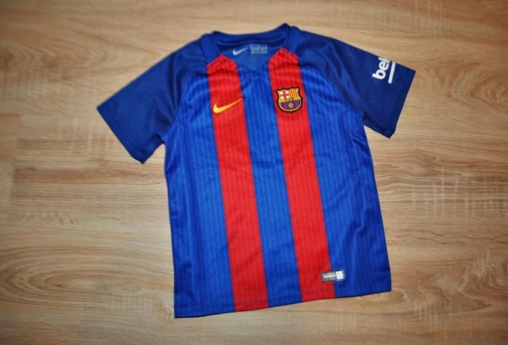 NIKE FC BARCELONA sportowa koszulka 116-122 BDB