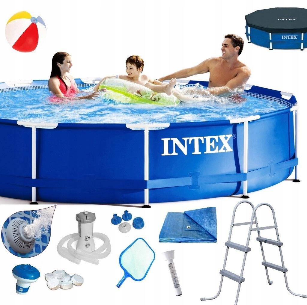 Intex Basen Stelazowy 366x76 Zestaw 20w1 Drabinka 8092087602 Oficjalne Archiwum Allegro