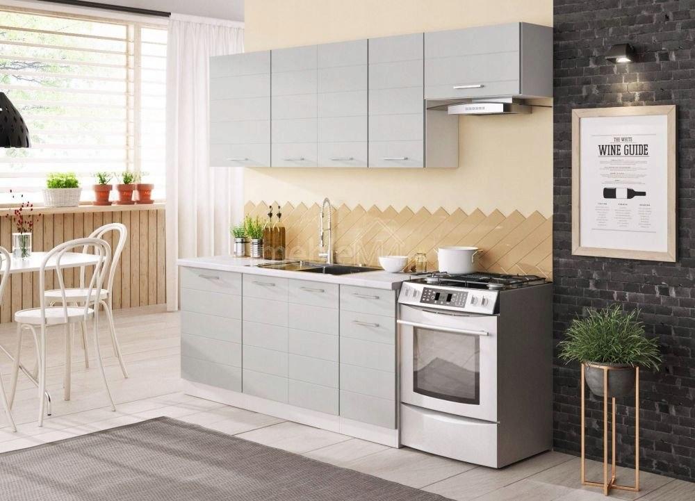 Kuchnia LIBRA 240 Biały / Biały + Light Grey