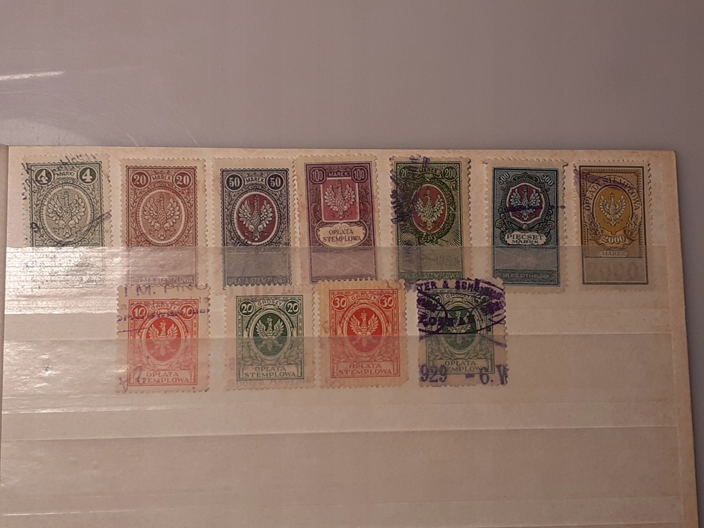 Zestaw sądowych znaczków PMW (.)