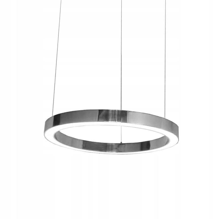 Lampa wisząca RING 60 srebrna - LED, stal polerowa