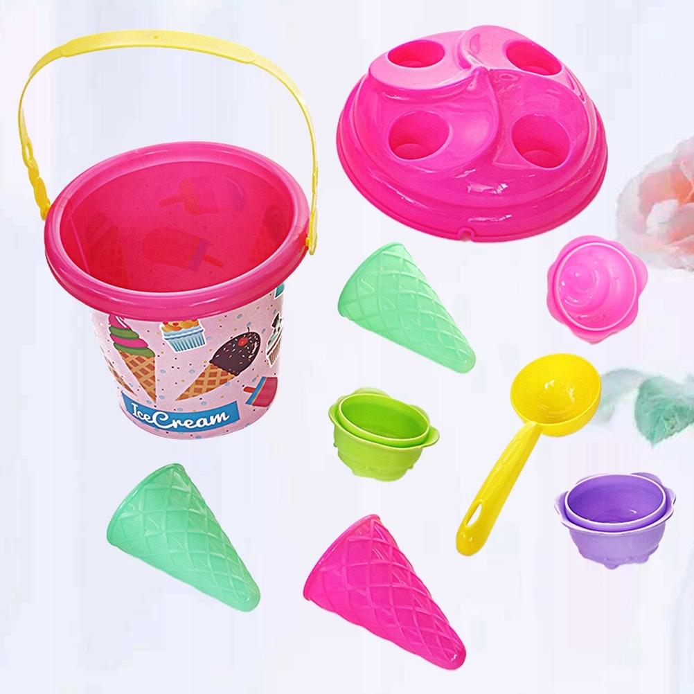1 zestaw Ice Cream Beach Bucket Toy Cartoon Kids P