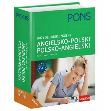 SŁOWNIK DUŻY SZKOLNY ANGIELSKO-POLSKI, POLSKO-ANG.