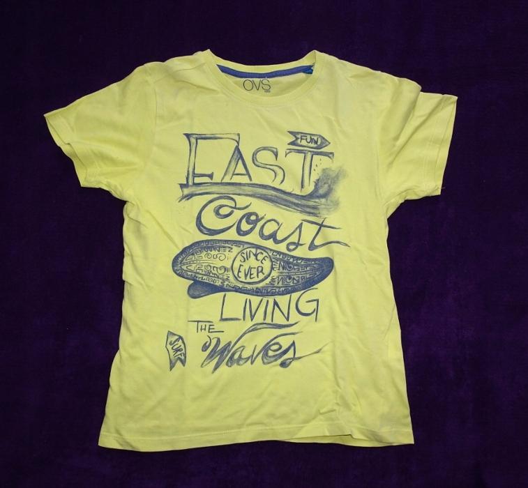 OVS Śliczna żółta koszulka chłopięca 128 / 7-8 lat
