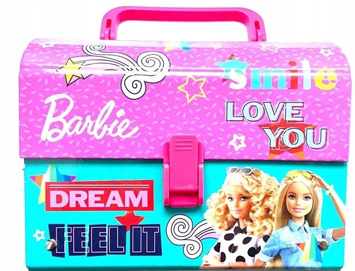 Kuferek BARBIE śniadaniówka NOWA z rączką walizka
