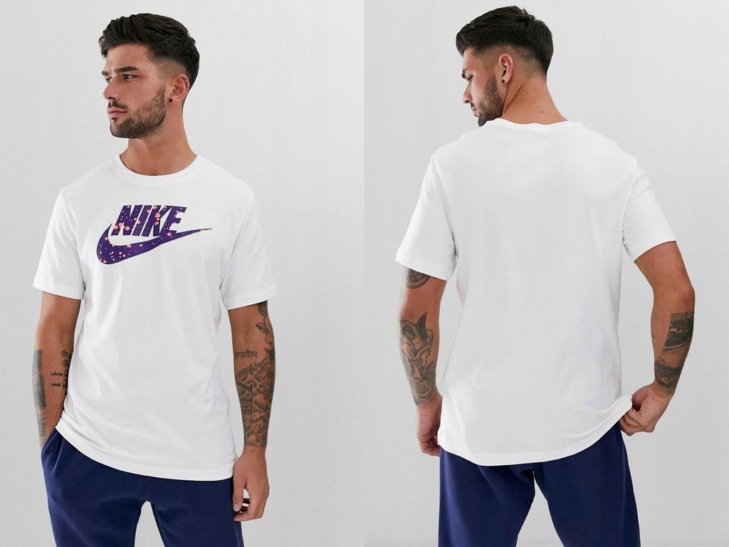 Nike - koszulka z kontrastowym logo L