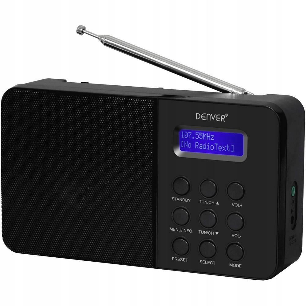 Radio DAB+ Denver DAB-33 Pamięć programów: 20