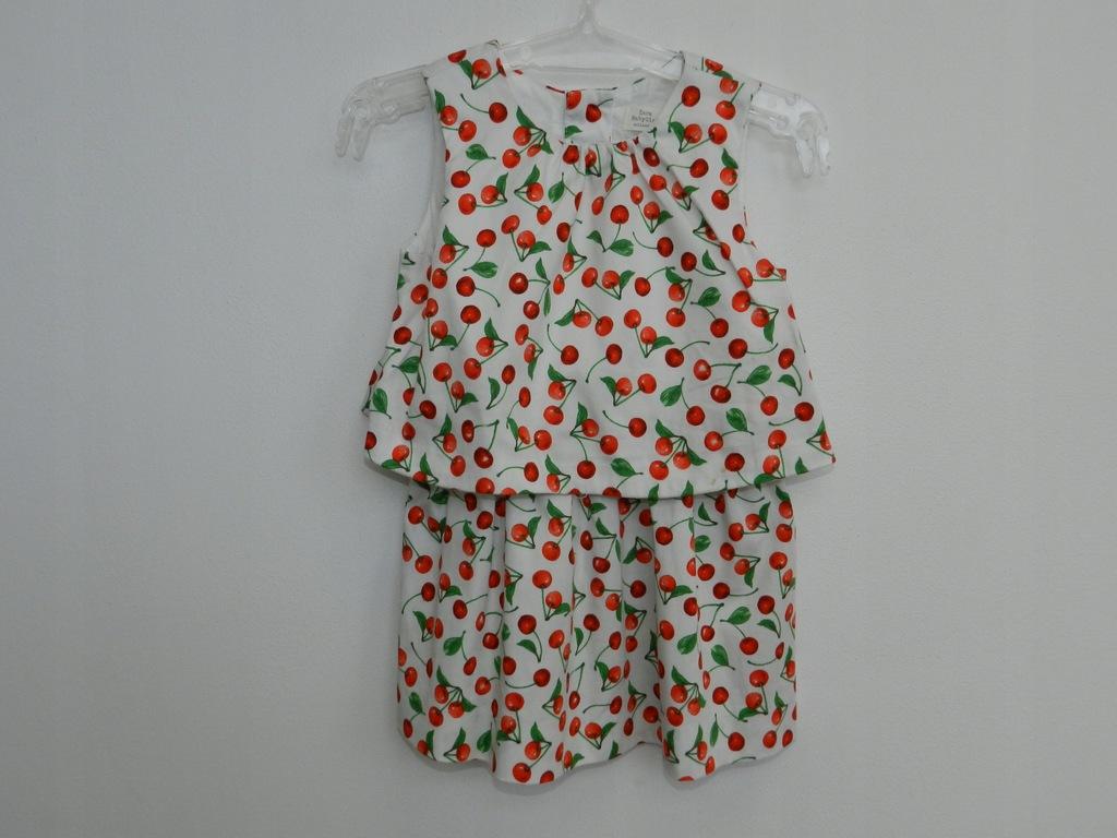 zara baby sukienka wisnie