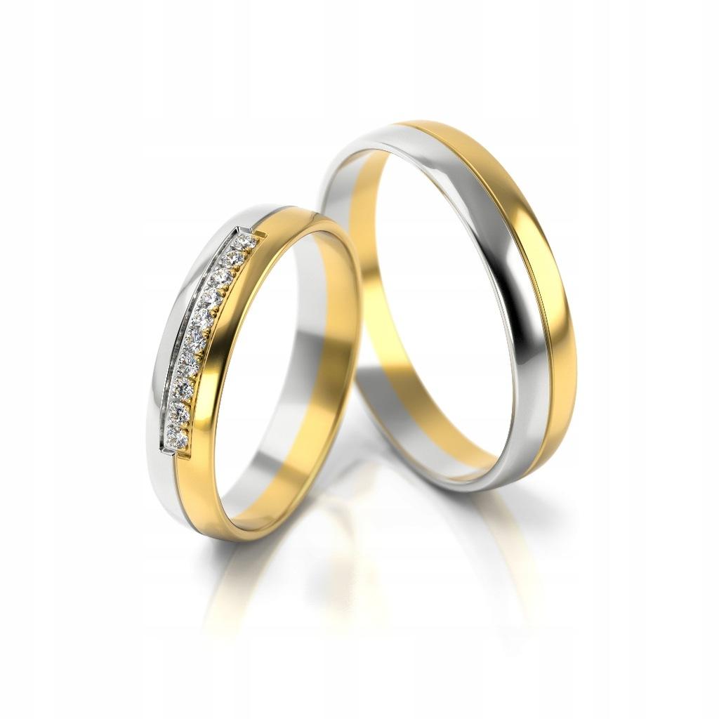 Złote obrączki ślubne 318 St. pr 333