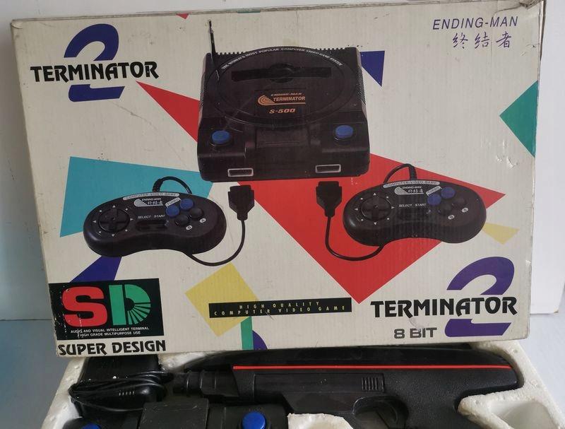 Stara konsola gra telewizyjna TERMINATOR 2 S-500