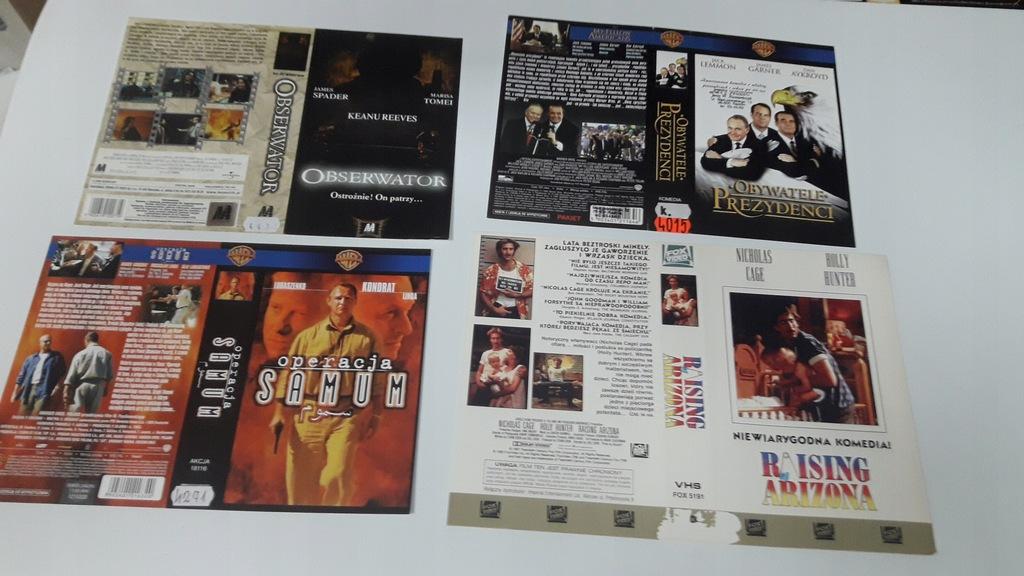 A-0820 pakiet 8 okładek kaset vhs