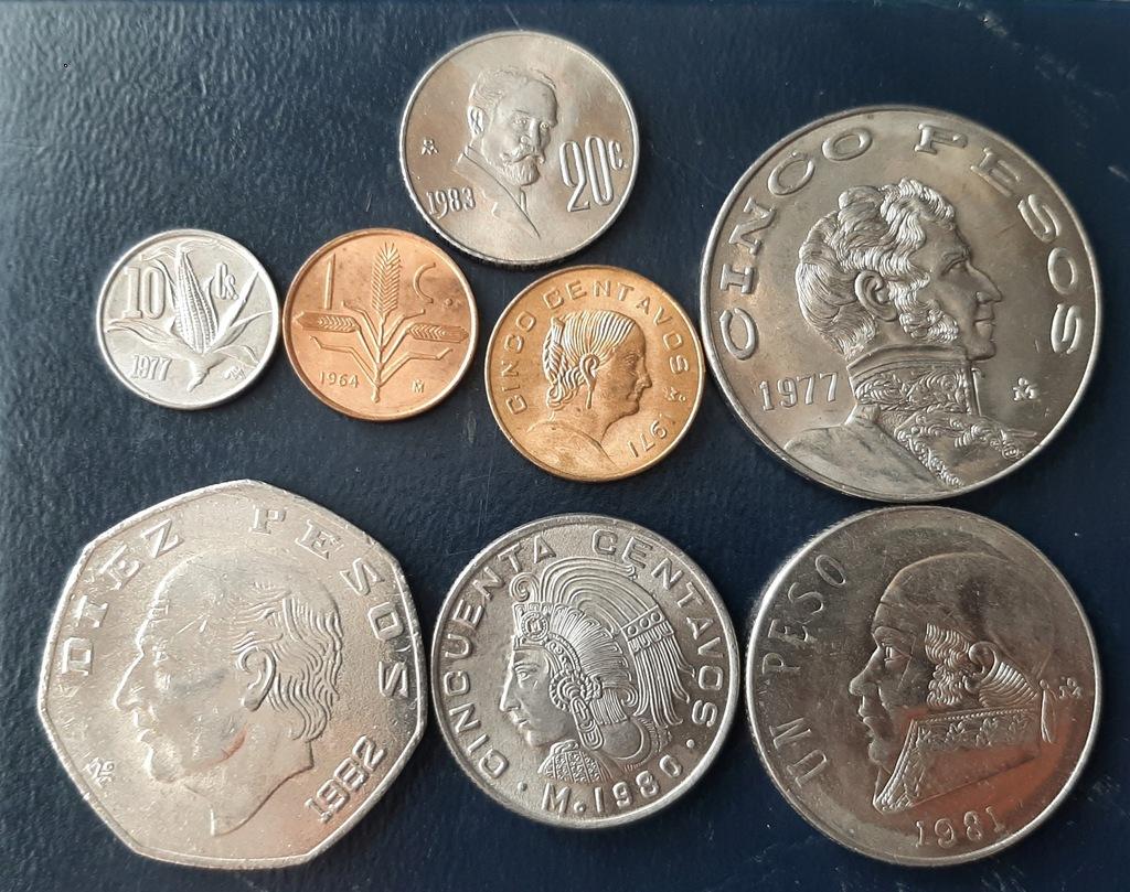 MEKSYK zestaw 8 monet