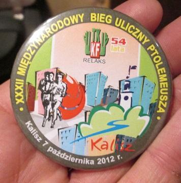 Odznaka Bieg Ptolemeusza Kalisz, 2012 r. wysyłka 0