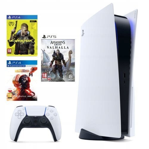 SONY Playstation 5, PS5, + PAD + 3 GRY + FV23%