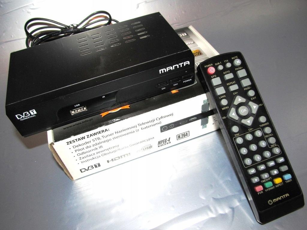 Dekoder DVB-T MANTA DVBT02 z pilotem
