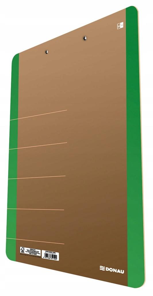 Clipboard DONAU Life karton A4 z klipsem zielony