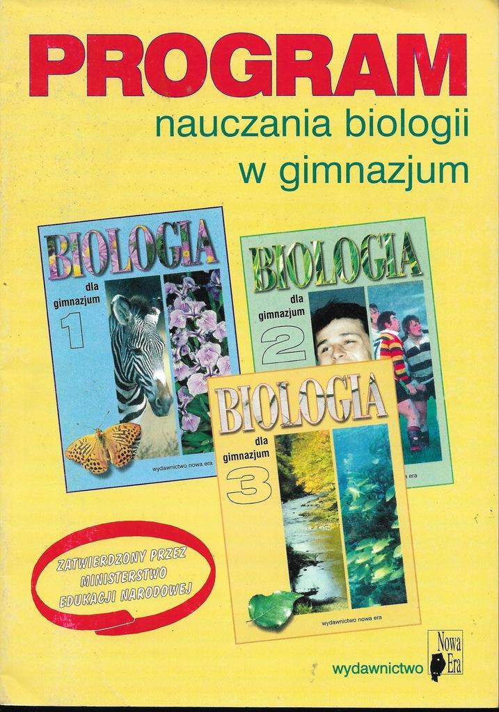 Program Nauczania Biologii W Gimnazjum Wnowa Era
