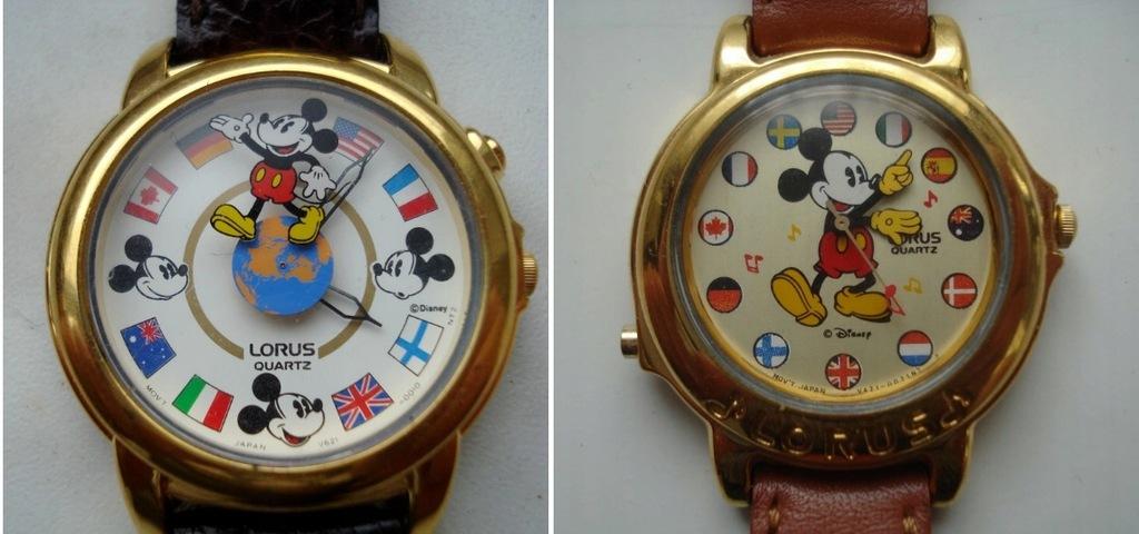 Dwa zegarki Lorus Myszka Miki z jednej serii
