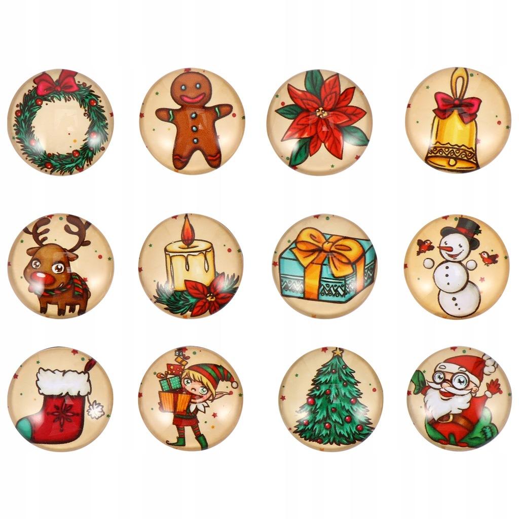 12 sztuk świątecznych magnesów na zabawne magnesy