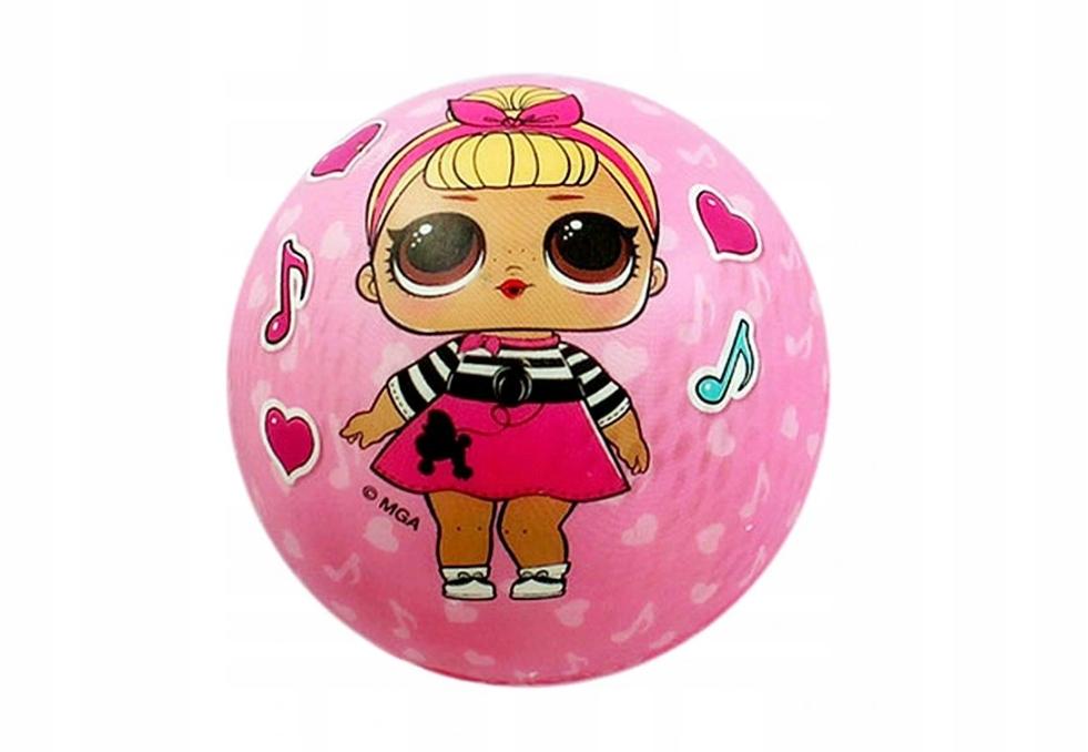 Piłka gniotka LOL różowa