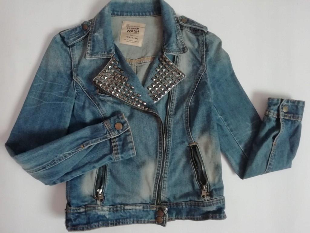 ZARA jeansowa kurtka ranomeska ćwieki 36(S)