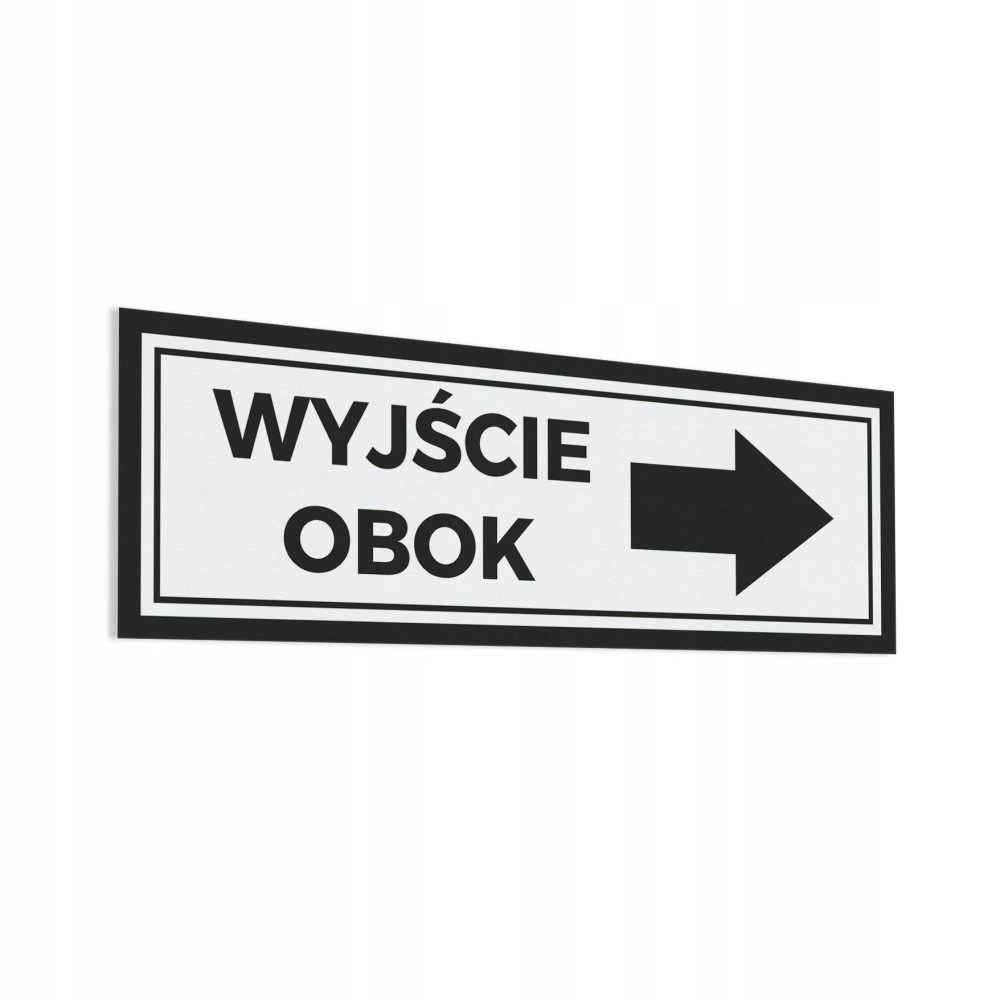 Naklejka - Wyjście Obok -> 10x30
