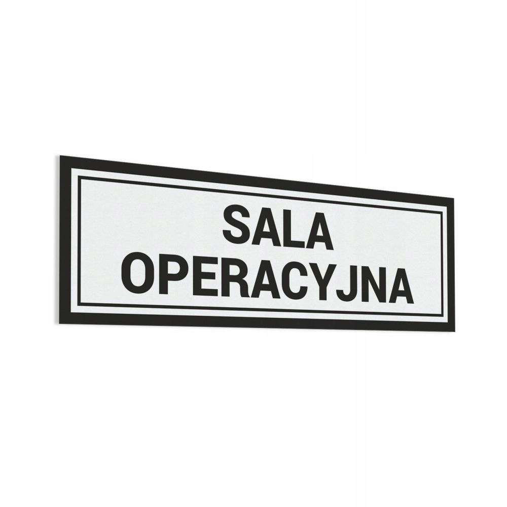 Naklejka - Sala Operacyjna 10x30